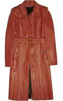 Burberry Prorsum Double-faced Leather Trench Coat - Lyst