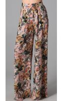Elizabeth And James Jake Floral Printed Trouser - Lyst
