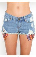 Nasty Gal Baja Cutoff Shorts - Blue - Lyst