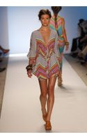 Mara Hoffman Swimwear Printed Short Poncho Dress - Lyst
