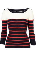 Topshop Knitted Stripe Rib Slash Top - Lyst