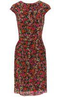 Erdem Miren Printed Silk Dress - Lyst
