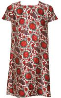 Balenciaga Satin Dress with Paisley and Peacock-print - Lyst