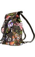 Topshop Tropical Print Backpack Bag - Lyst