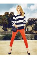 Mango Stripe Sweater - Lyst
