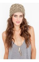 Nasty Gal Woven Knit Beanie - Lyst