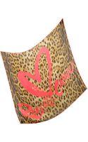 Roberto Cavalli Signature Leopard Print Silk Square Scarf - Lyst