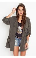 Nasty Gal Incognito Anorak - Olive - Lyst