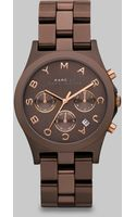 Marc By Marc Jacobs Chronograph Watch/brown Ion-plated - Lyst