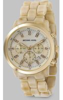 Michael Kors Acrylic Chronograph Watch - Lyst