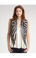 Roberto Cavalli Patchwork Skins Silk Scarf - Lyst