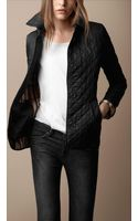 Burberry Single Breasted Quilted Jacket - Lyst
