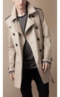 Burberry Midlength Cotton Trench Coat - Lyst