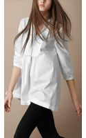 Burberry Brit Washed Cotton Bib Front Shirt - Lyst