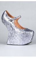 Jeffrey Campbell The Night Walk Shoe in Pewter Glitter - Lyst