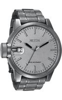 Nixon The Chronicle All Raw Steel Bracelet Watch - Lyst
