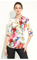Dolce & Gabbana Printed Stretch Silk Shirt - Lyst
