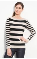 Lafayette 148 New York Stripe Sweater - Lyst