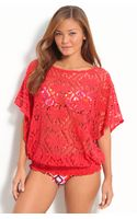 Trina Turk Kuta Crochet Cover-up - Lyst