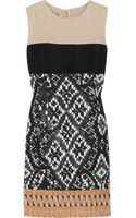 Giambattista Valli Patterned Woven and Tweed Dress - Lyst
