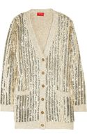 Lanvin Sequined Knitted Silk-blend Cardigan - Lyst