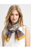Etro Paisley & Tattoo Scarf - Lyst