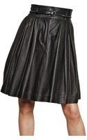 Preen By Thornton Bregazzi Leather Skirt - Lyst
