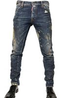 DSquared2 16,5cm Painted Denim Cool Guy Jeans - Lyst