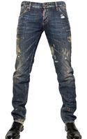 DSquared2 19cm Painted Denim Slim Fit Jeans - Lyst
