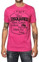 DSquared2 Cotton Jersey Rider T-shirt - Lyst