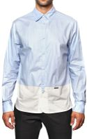 DSquared2 Bicolored Cotton Poplin Shirt - Lyst