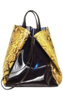 Jil Sander Pvc and Python Tote Bag - Lyst