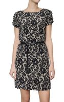 Michael by Michael Kors Lace Print Georgette Dress - Lyst