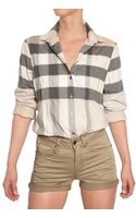 Burberry Brit Checked Cotton Canvas Shirt - Lyst