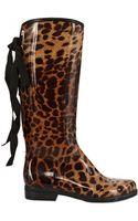 Dav Leopard Rubber Boot Boots - Lyst