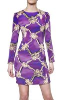 Mary Katrantzou Bow Print Silk Crepe Dress - Lyst
