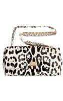 Dolce & Gabbana Leopard Print Ponyskin Shoulder Bag - Lyst