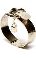 Low Luv X Erin Wasson Padlock Bracelet - Yellow Gold - Lyst