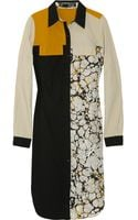 Proenza Schouler Block-print Shirt Dress - Lyst
