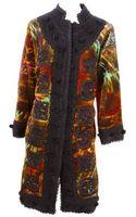 Oscar de la Renta Embroidered Velvet Trapunto Coat - Lyst