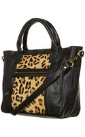 Topshop Leopard Print Leather Holdall - Lyst