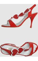 Love Moschino High Heeled Sandals - Lyst