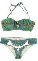 Mara Hoffman Ruffle Bustier Bikini - Lyst