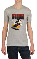 D&G Mickey Mouse Run Cotton Jersey T-shirt - Lyst