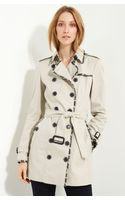 Burberry Belted Cotton Gabardine Trench Coat - Lyst