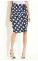 Marc Jacobs Gingham Drape Front Skirt - Lyst