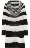 McQ by Alexander McQueen Striped Open-knit Sweater Dress - Lyst