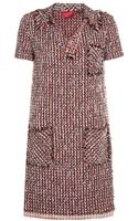 Lanvin Tweed Polo Dress - Lyst
