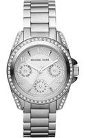 Michael Kors Mini-size Blair Multi-function Glitz Watch, Silver-color - Lyst
