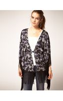 Pepe Jeans Pepe Jeans Kimono with Fringed Edges - Lyst